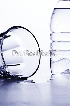 glas mit flasche