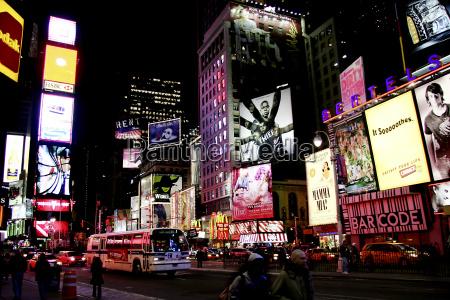 ny times square di notte