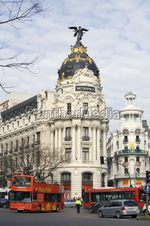 metropoli visita turistica madrid viale boulevard