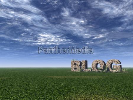 blu scrivere orizzonte pietra sasso campo