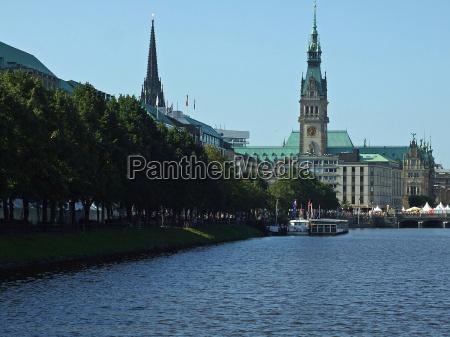 chiesa amburgo municipio alster promenande cyclassics