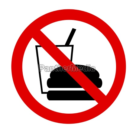 vietato mangiare e bere