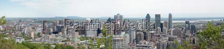 canada skyline montagna fiume acqua montreal