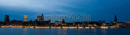 blu notte luci porto amburgo porti