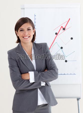 donna di affari sicura con le