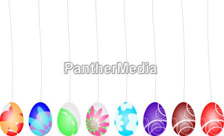 grafico colorato pasqua uova uova di