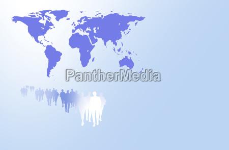 mondo umano business carta grafica