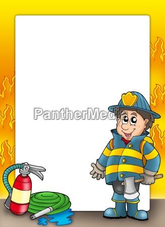 telaio di protezione antincendio con vigile
