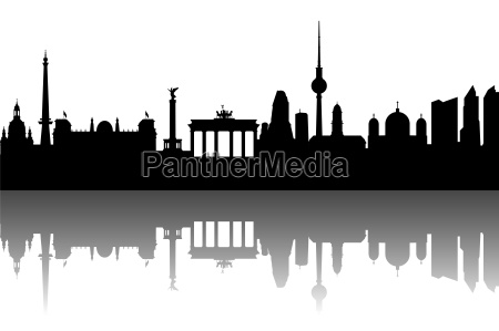berlino skyline astratto