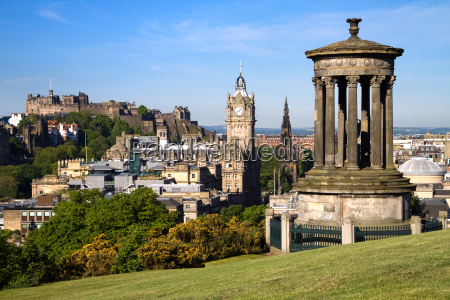 edinburgh city and castle visto da