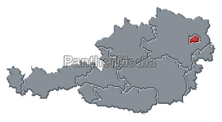 austria cartina mappa atlante