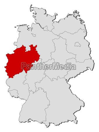karte landkarte deutschland
