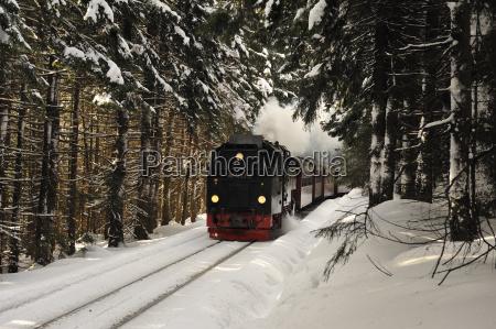 inverno harz brocken deutschland dampflokomotiv schnee
