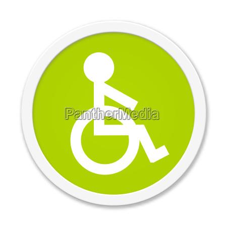 tasto verde rotonda con il simbolo