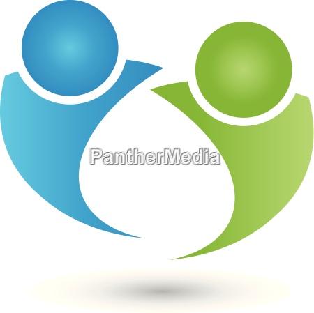 persone popolare uomo umano partnership logo