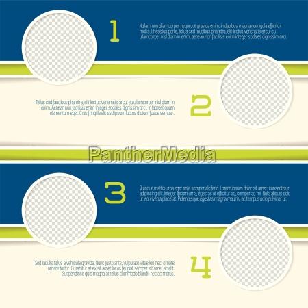 disegno infografica con contenitori cerchio photo