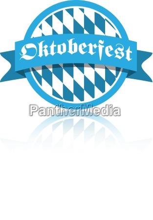 blu grafico illustrazione festa pulsante octoberfest