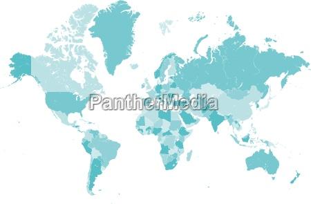 blu mappa paesi globo terra pianeta
