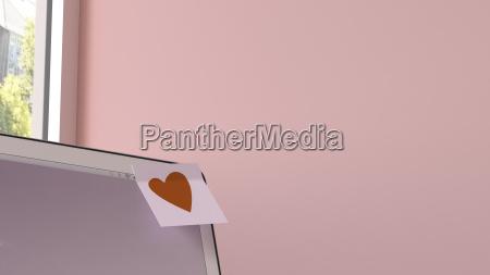 ufficio portatile computer nota colore femminile