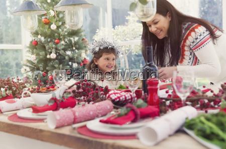 madre e figlia della tabella di