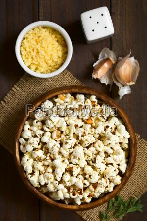 cibo perpendicolare mais verticale formaggio aglio