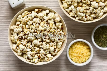 cibo orizzontale mais formaggio aglio cavolo