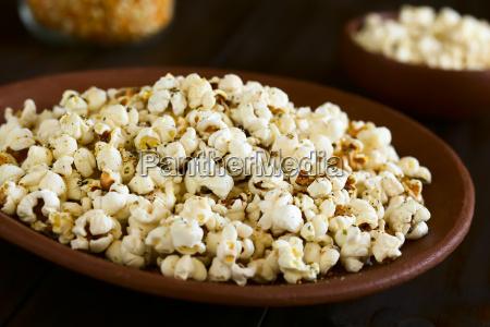 cibo orizzontale piatto mais formaggio aglio