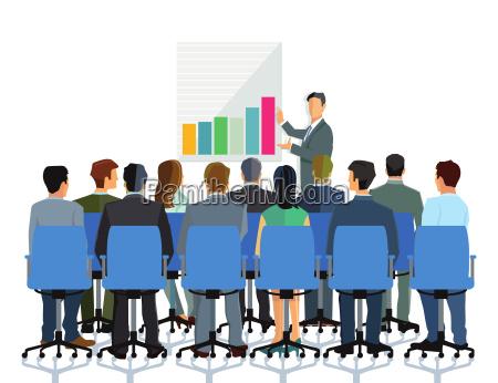conferenza e consulenza a un gruppo