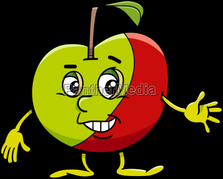 personaggio dei cartoni animati mela