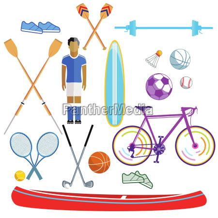 sport e tempo libero illustrazione raccolta
