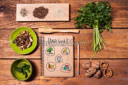 nota annotare cibo salute esistere vivere