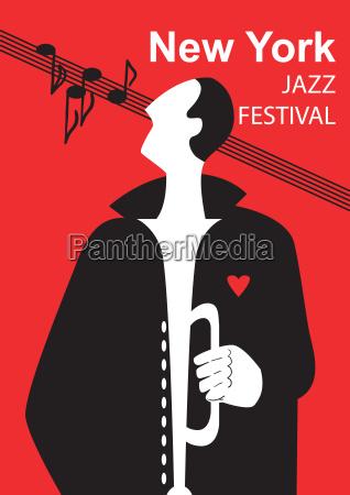 musica suono poster mappa jazz festival